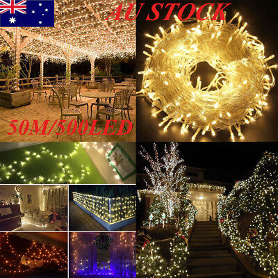 500LED 100M Warm White Fairy Christmas Fairy String Strip Lights Party Wedding
