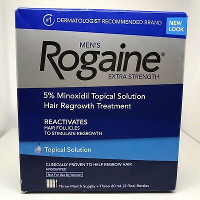 Rogaine Men's Extra Strenght 5% Minoxidil Topical Solution, Expires 2020/04