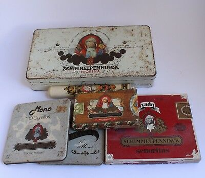 Lot of Schimmelpenninck Vintage Tobacco Tins Cases