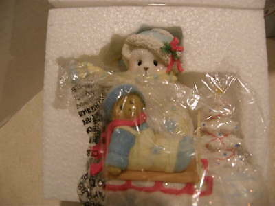 Cherished Teddies 4040468 CASSY and KIT Snowflake Friends New 2014