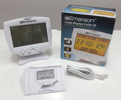 Emerson EM60 Large Display Talking Caller ID Box With 60 Numbers Memory Refurb