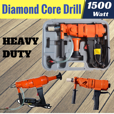 New DIAMOND CORE DRILL Concrete Hand-Held Machine Wet Drilling Super Powerful
