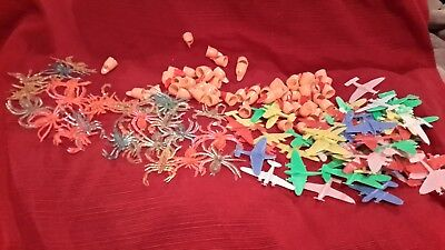 VINTAGE LOT OF PLASTIC TOY AIR PLANES  FINGER NAILS and BUGS