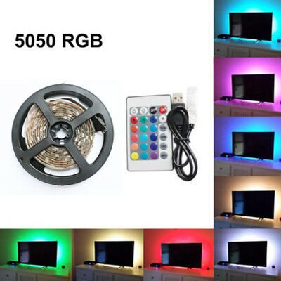 50-200cm USB Tira de luces LED Tv Parte Trasera Lámpara 5050rgb cambia color +