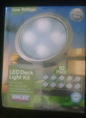 10 Piece Round LED Deck Light Kit DIY Stainless Steel White Complete ARLEC easy