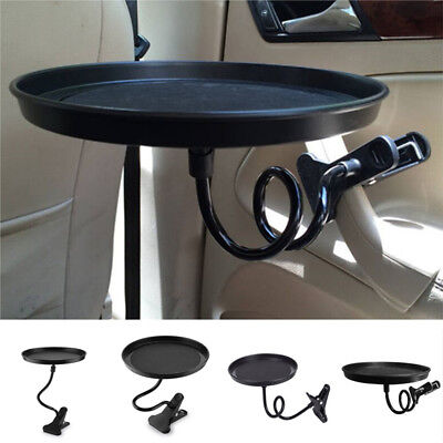 Black Plastic Car Swivel Mount Holder Cup Drink Food Tray Table Stand Bracket