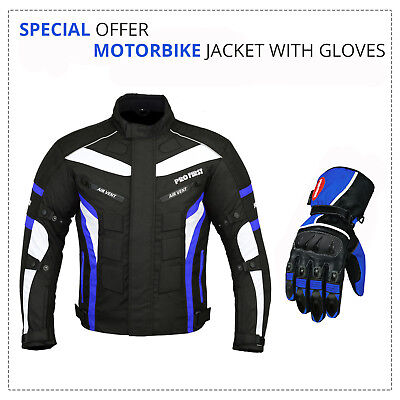 Black Friday Sale Motorbike Motorcycle Textile CE Armored Jacket Leather Glove