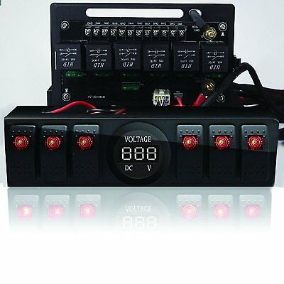Jeep Wrangler JK & JKU 2009-2017 Overhead 6-Switch Pod / Panel with Control
