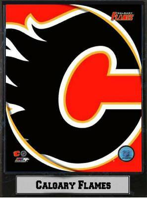 Calgary Flames Logo Wood Wall Picture 11 13/16In, PLAQUE NHL Ice Hockey, NEW