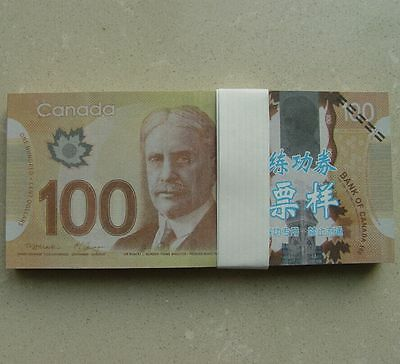 100pcs 100 C$ Paper Money Canada Bank Notes Commemorate the Collection