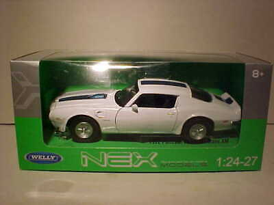 1972 Pontiac Firebird Trans AM Coupe Die-cast Car 1:24 Welly 8 inches White