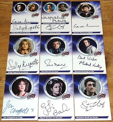Blake's 7 Series 1 Complete 19 Autograph Card Set by Unstoppable Cards (2013)