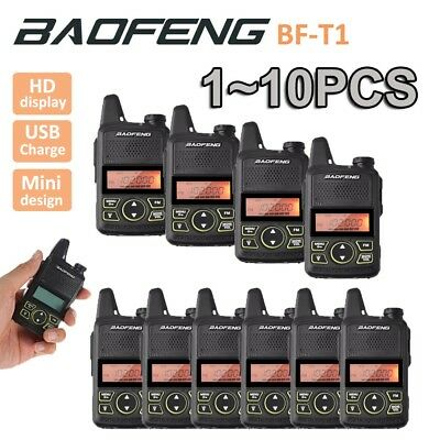 Baofeng BF-T1 Mini Walkie Talkie Portable Two Way Radio + USB Charger +Earpieces