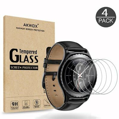 Samsung Gear S2 Frontier/Classic Tempered Glass Screen Protector HD Clear,4-Pack