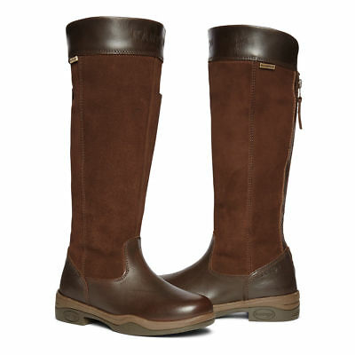 Kanyon Clydesdale ladies dark brown leather rear-zip riding boot sizes 3-8UK