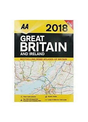 AA 2018 Great Britain Ireland Road Atlas by NA Book The Cheap Fast Free Post