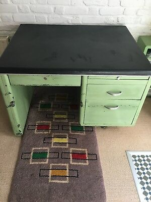Industrial steel desk circa 1950