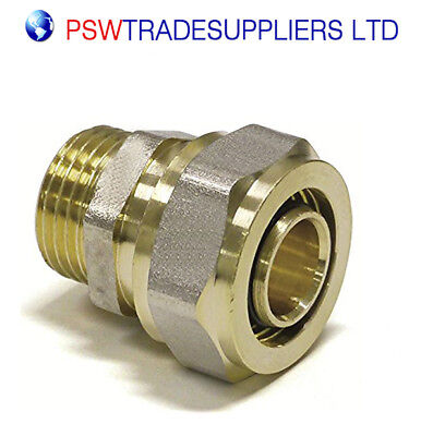 """Male Straight Connector 16mm - 1/2"""" - COMPRESSION Fit"""
