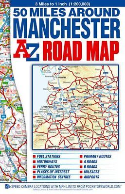 50 Miles around Manchester Road Map... by Geographers A-Z Map  Sheet map, folded