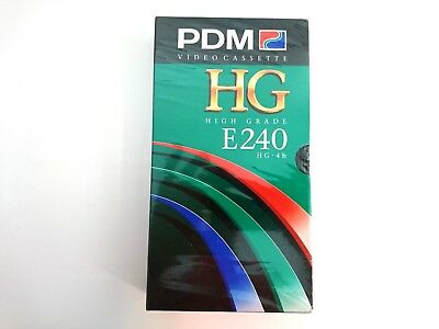PDM E240 HG VHS Blank Tape PAL SECAM SEALED