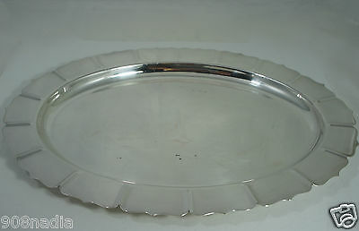 """Vintage Silver Plate Classic Oval Serving Tray """"early American"""" By International"""
