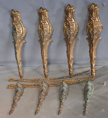 12 Pieces Antique French Louis XVI Ormolu Gilt Bronze Table Mounts FANCY Genuine