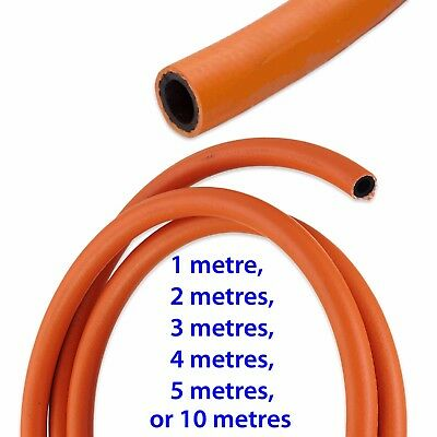 "LENGTH OF 8mm (5/16"") BORE LPG LP & NAT GAS ORANGE HIGH PRESSURE RUBBER HOSE"