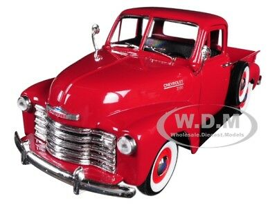 1953 Chevrolet 3100 Pick Up Truck Red 1:24-1:27 Diecast Model By Welly 22087