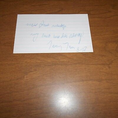 Tiny Tim, was an American singer  Hand Signed Index Card