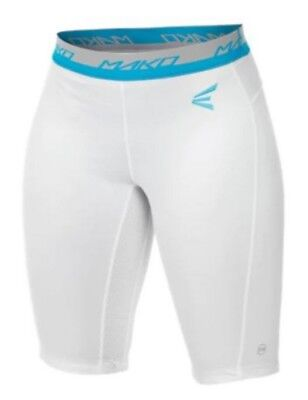 Easton Women's Mako Compression Shorts Softball Under Short White A164912WH