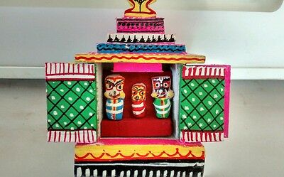 Hindu God Lord Jagannath Wooden Festival Temple, Lord Of The Universe