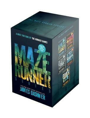 Maze Runner 5 Book Boxed Set by Dashner,James Paperback Book Free Shipping!
