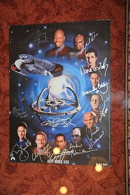Star Trek Deep Space Nine DS9 Cast 13 (!) Original Autogramme komplett Autograph
