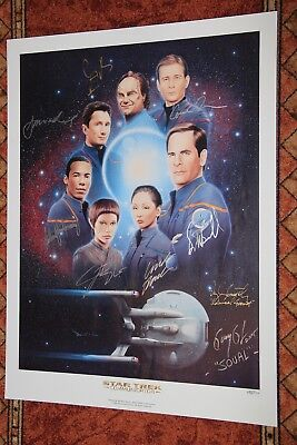 Star Trek Enterprise Cast 9 (!) Original Autogramme komplett Autograph