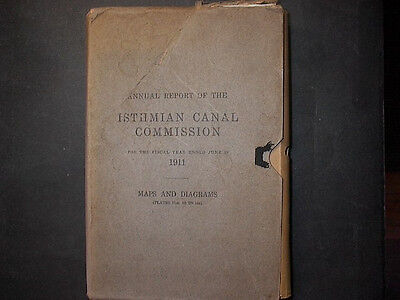 RARE 1911 Report of the Isthmian ( Panama ) Canal  64 maps &diagrams