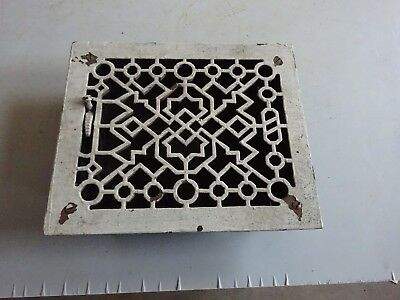 Vintage Cast Iron Floor / Wall Heater Register Grate Vent Victorian