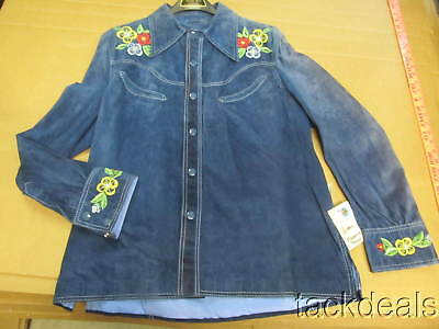 New Pioneer Wear USA Made Vintage Blazer Leather Floral Embroidered Jacket NWT