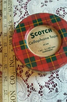 Vintage Scotch Cellulose Tape Tin - Empty