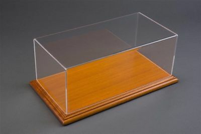 1/18 Display case, Mahogany wood colour base Hand made, scratch resistant acryli