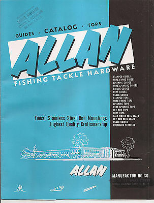 Vintage Oct. 1st 1953 Allen 12 pg Fishing Price Guide Catalog Great Condition
