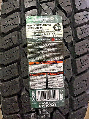 4 New 245 65 17 Timberland A/T Tires