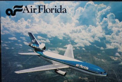 AK Airliner Postcard  AIR FLORIDA DC-10 airline issue