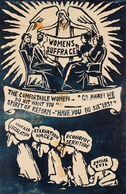 Print. ca 1913. Women's Suffrage.  Starvation Wages