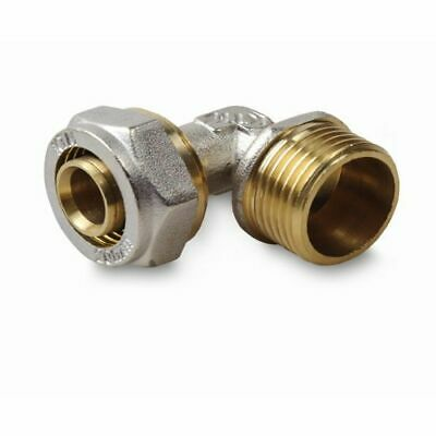 "Elbow 16x1/2"" M ,  PEX-AL-PEX BRASS COMPRESSION FITTINGS Underfloor Heating"