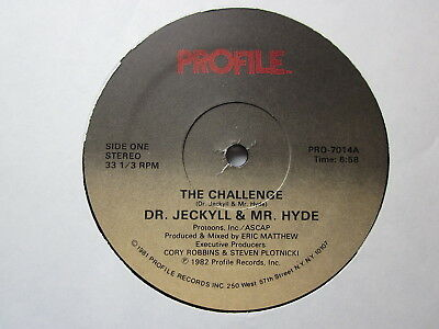 """Electro Old School Hip-Hop 80's 12""""-Dr. Jeckyll/Mr. Hyde-The Challenge-USProfile"""