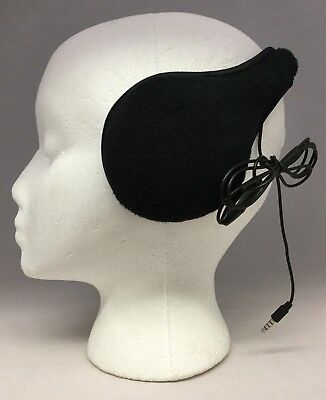 NIB 180s BLACK Ear Warmers WITH HEADPHONES Great Gift Idea Christmas - FREE SHIP