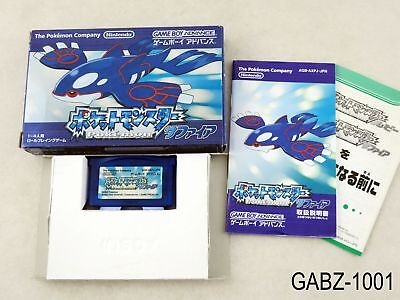 Complete Japanese Import Pokemon Sapphire New Battery Game Boy Advance GBA JP B