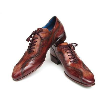 61530044fdc Paul Parkman Handmade Lace-Up Casual Dress Shoes For Men Brown (ID 84654