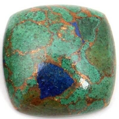 NATURAL AZURITE COPPER MOHAVE LOOSE GEMSTONES (14 x 14 mm) CUSHION CABOCHON CUT