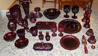 Avon Cape Code Dishes Glass dinnerware Plates Bowls Pitcher